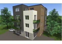 Dunaharaszti, Golgota tér 1. (Tízlakásos lakóépület, két üzlettel)